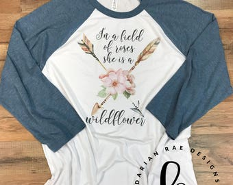 She Is a Wildflower | Floral | Arrow