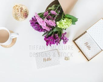 Purple Flower Desktop Stock Set | Styled Stock Photography
