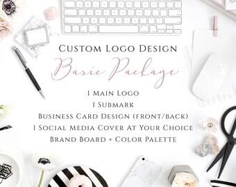 Custom Logo Design, Small Business Logo Design, Professional Logo Design, Custom Graphic Design, Custom Logo + Submark Pack, Simple Package