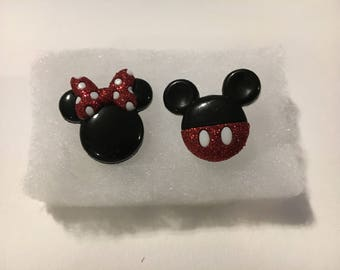 Mickey and Minnie Mouse Stud Earrings
