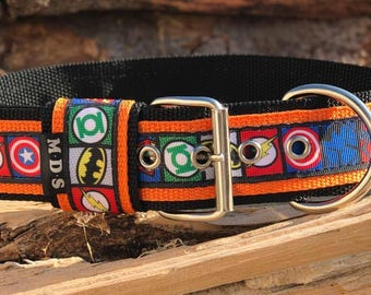 Dog collar - dog - collar strap - Doggy necklace ' Summer - superhero