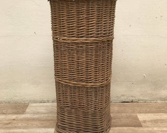 Vintage MIDDLE SIZE French Wicker BAGUETTE bread basket 3010176