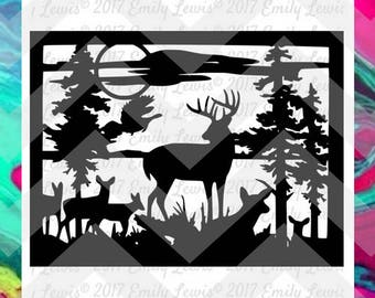 Deer SVG - Deer SVGs - hunting svgs - hunting cut files  - svg cuts - svg files - cut files - decals - silhouette - cricut files - decal
