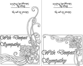 Color Your Own Sympathy Card Sets Of Ten Instant Download Get Well Soon
