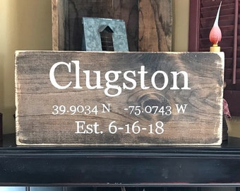 Latitude Longitude Sign | Coordinates Sign | Address Sign | GPS Coordinates | Housewarming Gift | Valentines day gift for her | Custom Signs