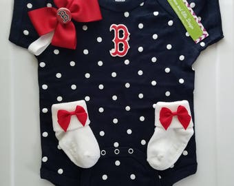 boston red sox baby outfit-boston red sox newborn-baby girl boston red sox-boston red sox baby shower gift-newborn red soxs/baby red soxs