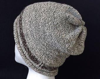 light weight hat, brown/black, floppy, soft, fit in your pocket, beanie, unisex