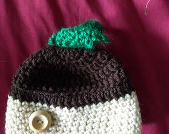 premmie/newborn acorn hat