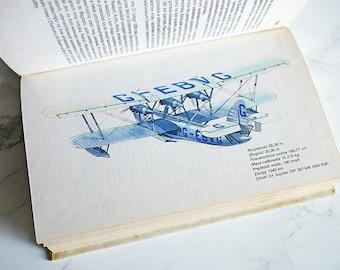 Vintage Illustrated Plane Book | Vintage Plane Illustrations | Plane Illustrations | Plane book