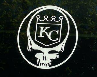 Car Decal Kc Royals Etsy - Custom vinyl stickers kansas city