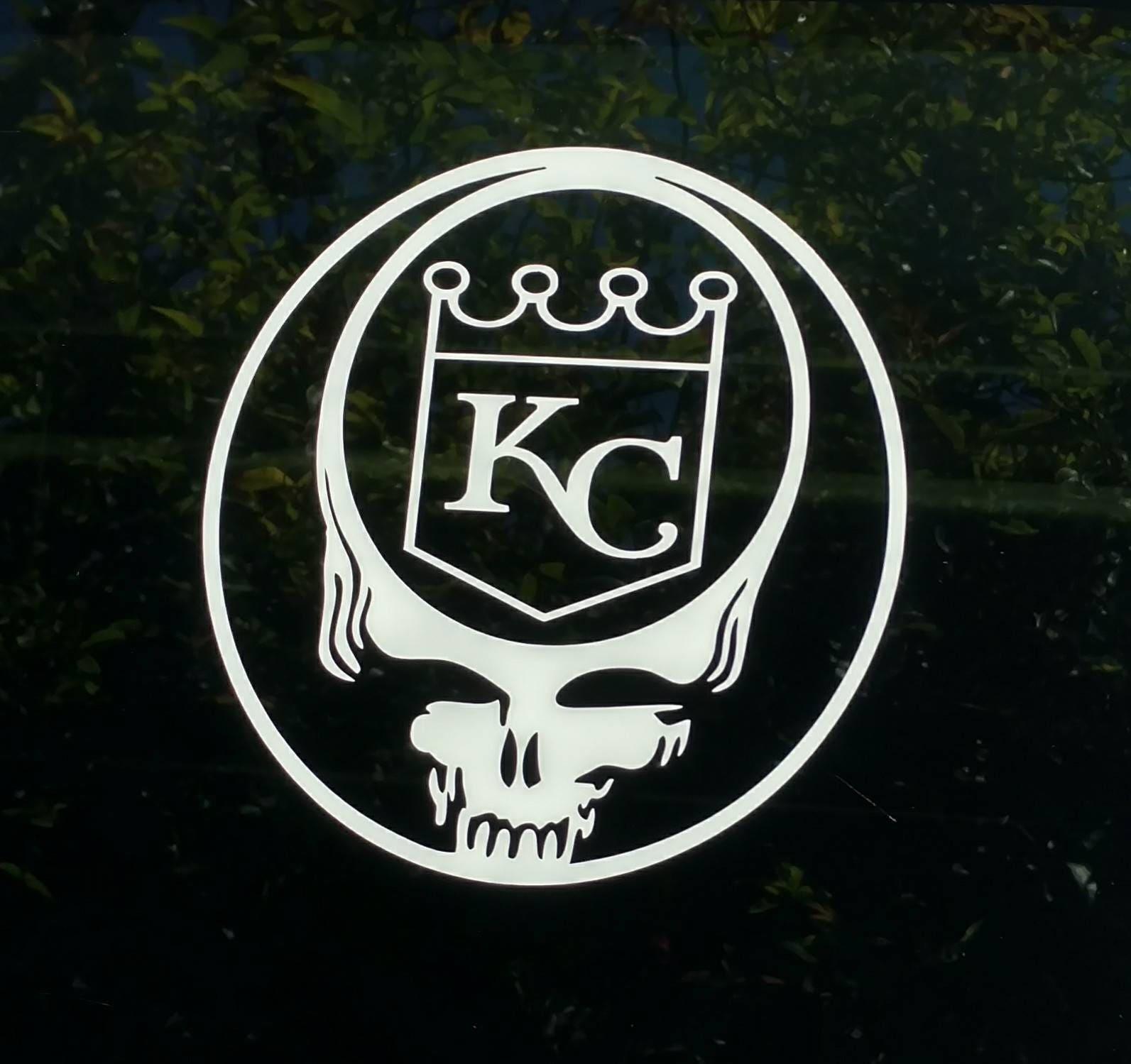 Grateful Dead KC Royals Decal Diecut Vinyl Sticker Car Truck - Custom vinyl decals kansas city