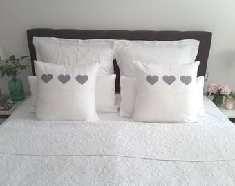"Cushion ""Heart to Heart"""