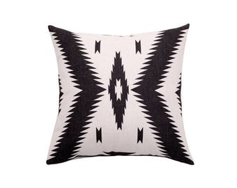 Aztec decorative pillow covers Tribal throw pillow covers Geometric pillow case Linen cushion case Sofa home decor gift 18x18 20x20 22x22