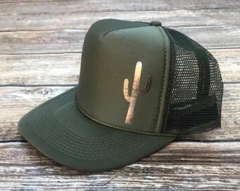 Cactus trucker hat, mom hat, trucker hat, mama hat, olive green trucker hat, olive hat, green hat, olive trucker hat