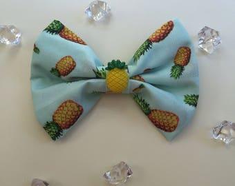 Pineapple pet bow tie velcro loop to go over dog collar