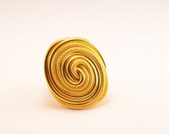 Gold aluminum wire spiral ring