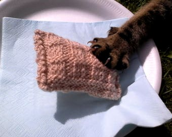 WLF Hand knitted catnip Potato Waffle Toy