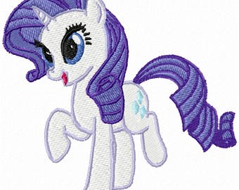 Rarity My Little Pony Embroidery Design
