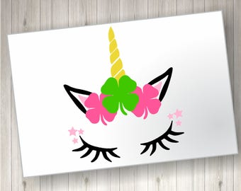 St. Patrick's Day Unicorn; St. Patrick's Day SVG file; Unicorn SVG