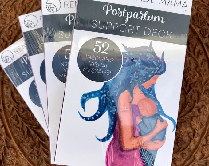 WHOLESALE- 10 Decks of Postpartum Breastfeeding and Mothering Support Cards and Fourth Trimester Positive Affirmations by The Renegade Mama