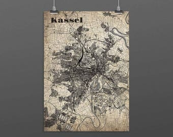 Kassel DIN A4 / DIN A3 - print - turquoise