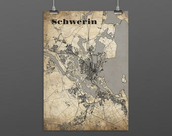Schwerin DIN A4 / DIN A3 - print - turquoise