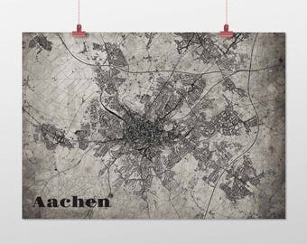 Aachen - A4 / A3 - print - OldSchool