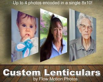 8x10 inch Custom Lenticular