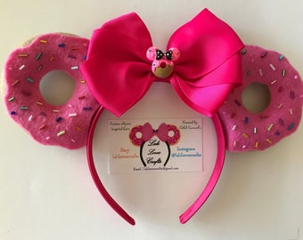 Donut inspired Minnie Mouse ears