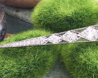 2ctw (Est.) Old Mine Cut Diamond Icicle Pendant
