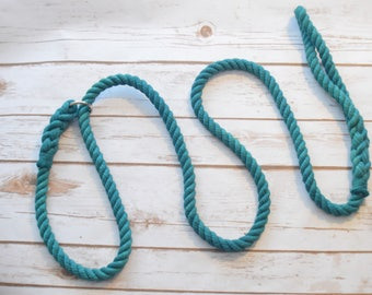 Rope Slip Dog Leash: Cotton Rope Slip Dog Lead