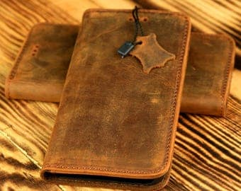 iPhone 6 - iPhone 6s Wallet Case - Handmade Genuine Leather