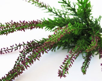 3 Heather Plants Artificial Leaves Hight Quality Plastic Supply Green Purple Simulation Planter Composition Home Decor