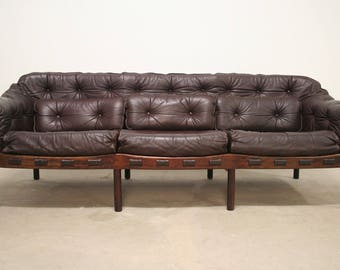 Vintage mid century design Arne Norell COJA of three couch sofa 1960s 1960s