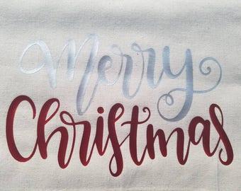 """Holiday Sack - """"Merry Christmas"""""""