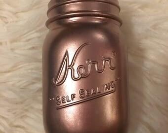 Rose Gold Mason Jar
