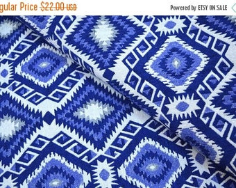 10% Off On Blue and White Jacquard Cotton Upholstery Fabric by the Yard