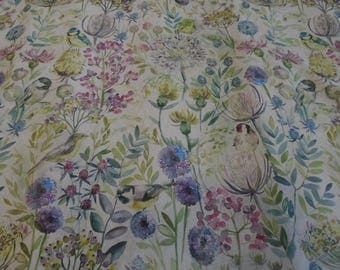 Voyage Decoration Country - Morning Chorus - Birds Curtain Upholstery Linen Fabric