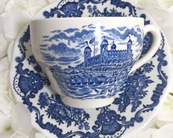 Vintage Royal Homes of Britain Enoch Wedgwood Tunstall LTD cup and saucer.