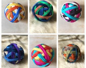 Self-Striping Sock Yarn, CUSTOM colors