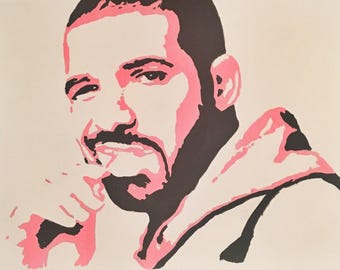 DRAKE Hand Painted Popart