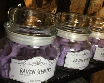 Raven scented skull wax melts