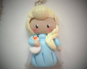 elsa Queen necklace snow