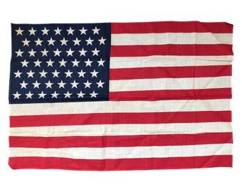 49 Star Flag - Vintage American 49 Star Flag