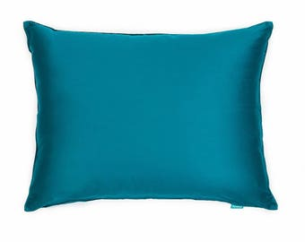 Solid Sateen Teal Turquoise Sham Pillow Cover for Bed