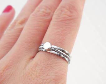 925 Sterling Silver Circle Stacking Ring, Minimalist Ring, Circle Ring, Stackable Ring, Cylinder Barrel Ring, Cylinder Ring, Stacking Ring