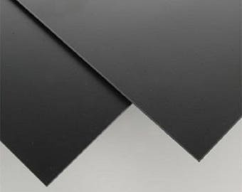 """Polystyrene-HIPS(High Impact Polystyrene)-black 0.060"""" Thick-Pick Your Size"""