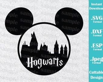 INSTANT DOWNLOAD SVG Disney Inspired Harry Potter Hogwarts Mickey Ears for Cutting Machines Svg, Esp, Dxf and Jpeg Format Cricut Silhouette