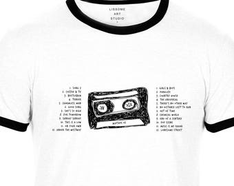 Mixtape T-Shirt BLUR by Lissome Art Studio