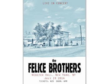 Felice Brothers Poster Live in New York City - Music Poster - Gig poster